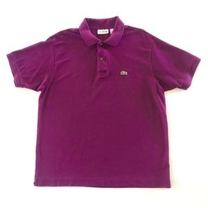 Men's Lacoste Polo Shirt Dark Purple Size XL